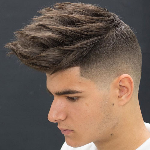 Textured Spiky Hair With Skin Fad