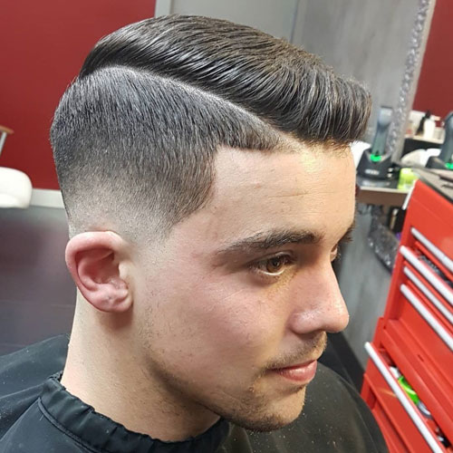 Thick Haircuts Low Fade Comb Over