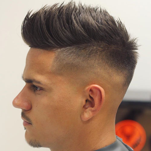 Undercut Fade With Line Up And Spiky Hair