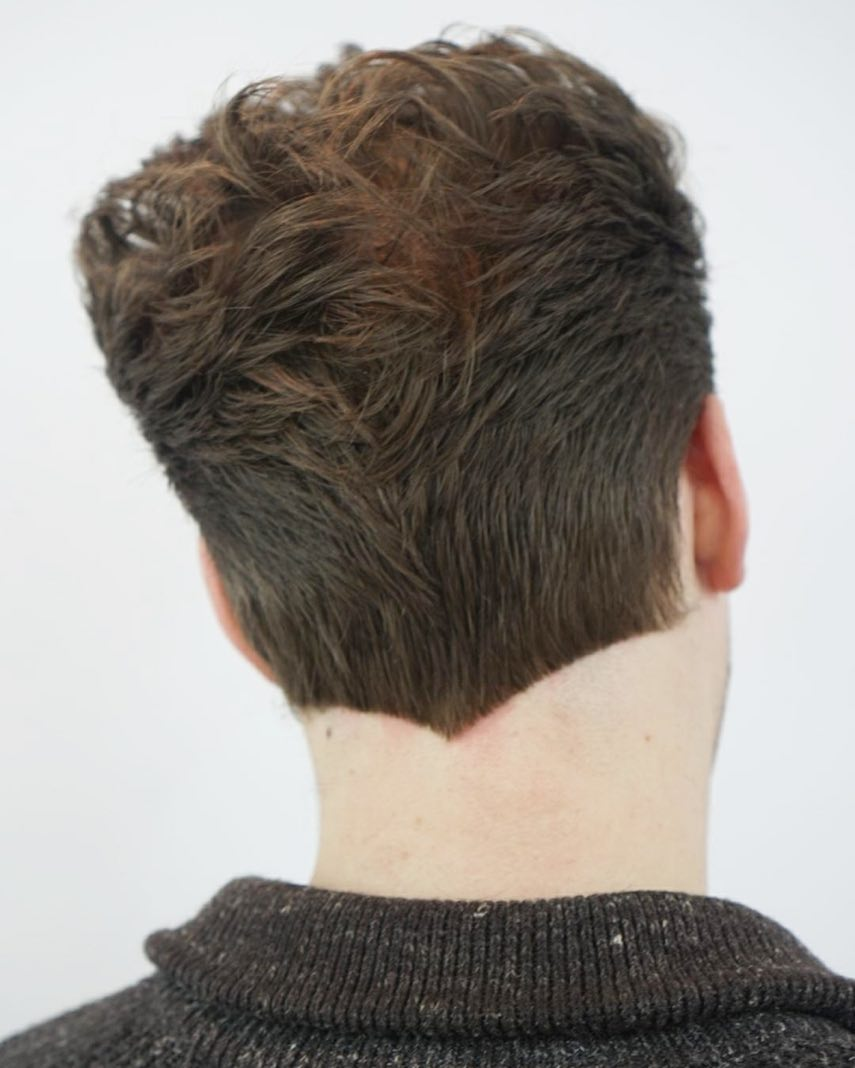 Glassboxbarbershop Taper Haircut V Cut Neck Nape Shape