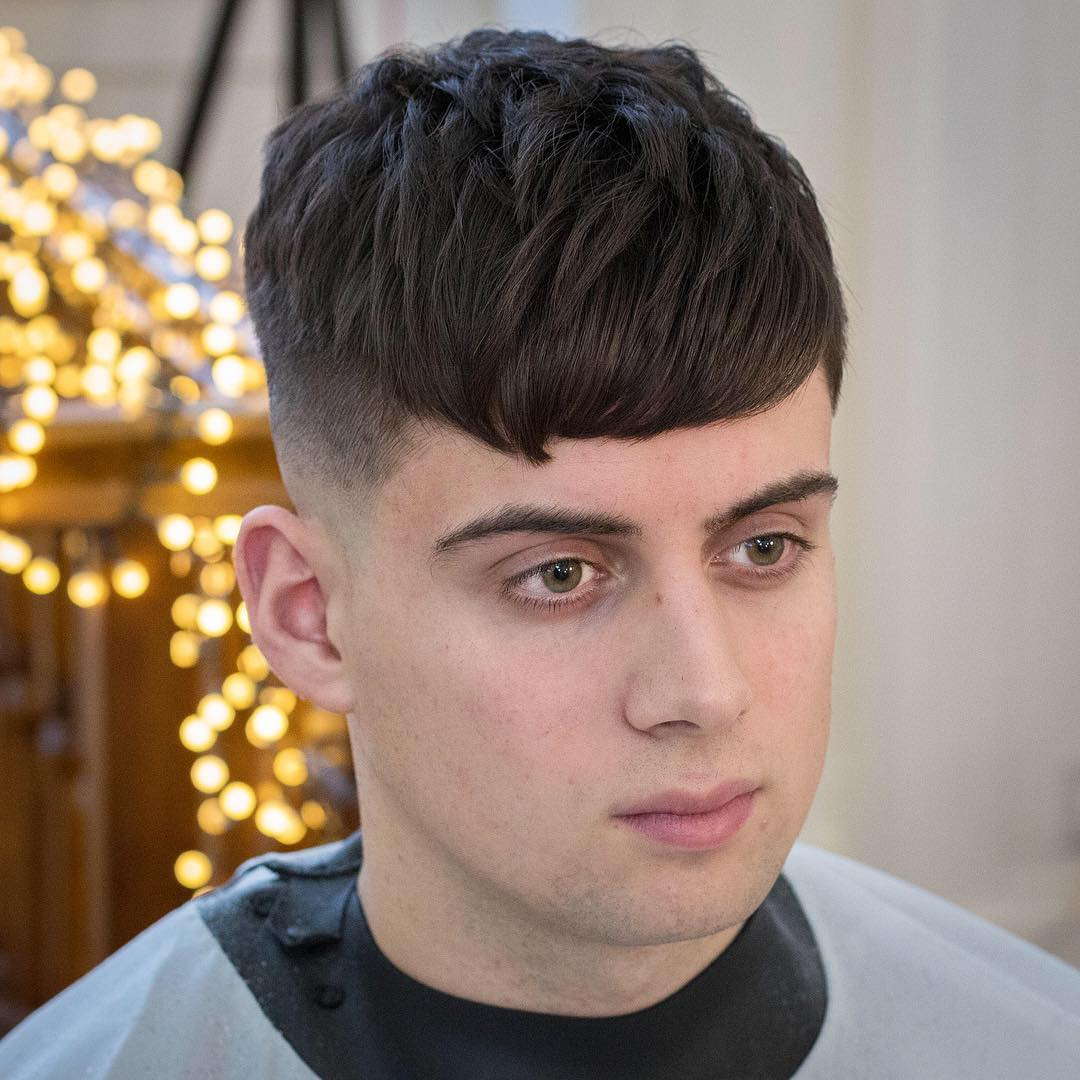 Rumbarber Heavy Crop Bangs Cool Haircuts For Thick Hair Men