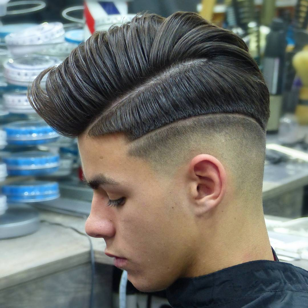Tonisaura Barbershop Double Part Shaved Lines New Menshaircuts 2018