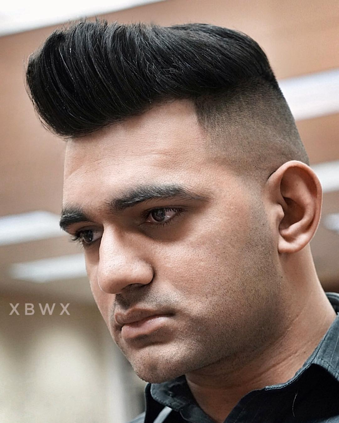 Xbigwesx High Fade Quiff Haircuts For Thick Hair Men