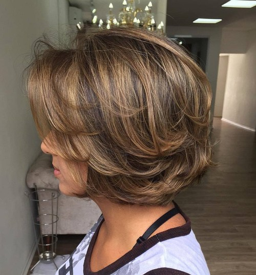 1 Medium Layered Brown Balayage Hairstyles