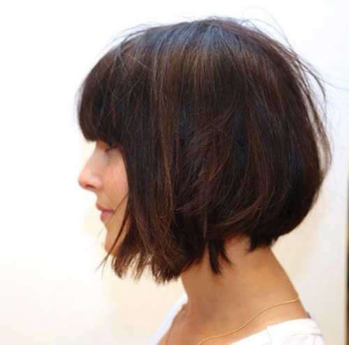 15.Short Haircut With Bangs