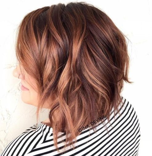 16 Wavy Caramel Brown Bob