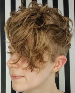 4 Short Messy Curly Undercut Hairstyle