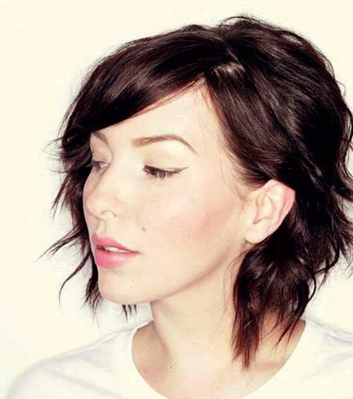 9.Layered Short Hair