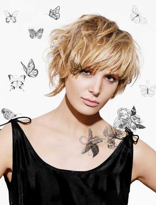 Blonde Hairstyles For Round Faces