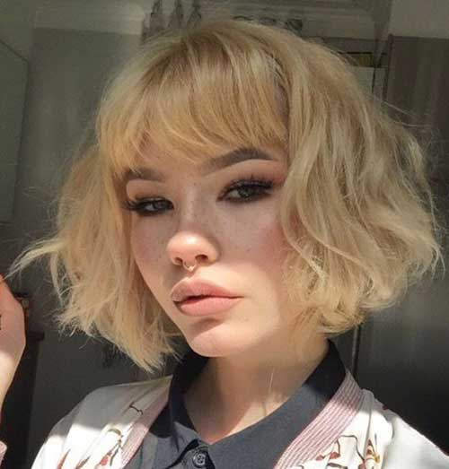 Short Hair Style With Bangs