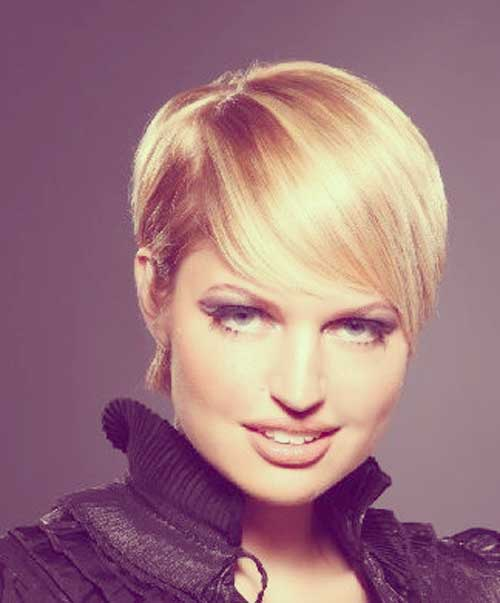 Short Hairstyles For Round Faces 7