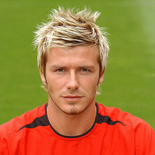 David Beckham Hairstyle Messy Spiked Hair With Highlights