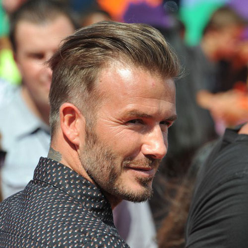 David Beckham Hairstyle Slicked Back Hair
