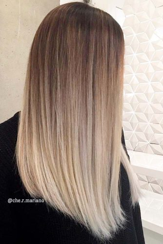 Light Brown Hair Styles Long Straight Ash Ombre
