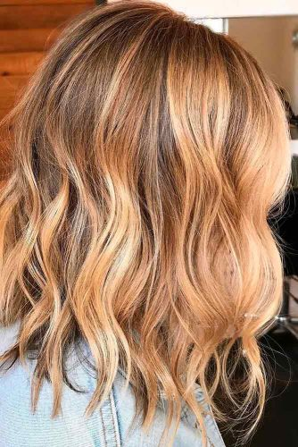 Light Brown Hair Styles Medium Length Wavy Gold Blonde