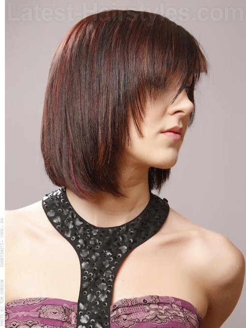Short Razor Cut Hairstyle Angle - Hairstyles Fashion and Clothing