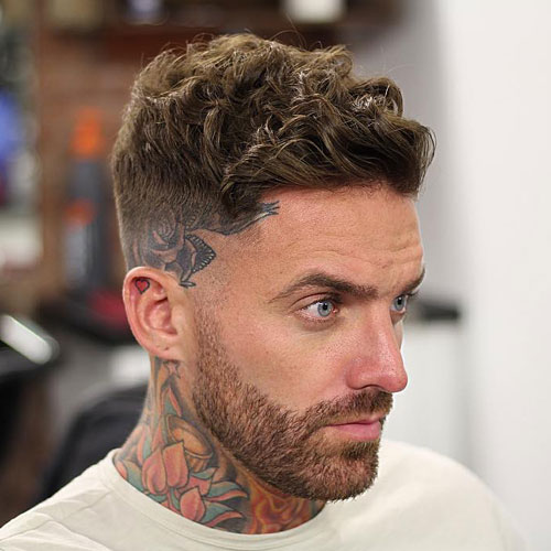 High Razor Fade With Curly Hair