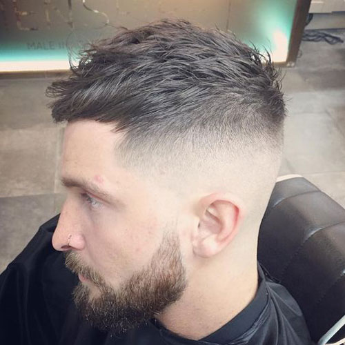 Textured Crop With High Bald Fade