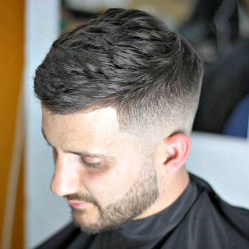 Textured Crop With Mid Fade