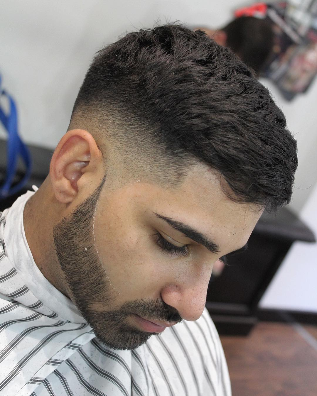 Barber.dylan .f Mens Haircuts For Short Thick Hair Mid Fade Short Beard