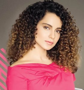 Indian Celebrity Kangana Ranaut Curly Hairstyles New Natural bollywood actress hairstyles